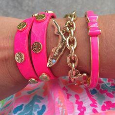 Neon pink & Florida bracelet