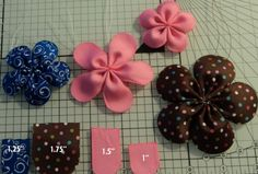 Handmade ribbon flower