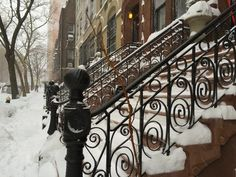 Snow storm in Manhattan, January 2016.