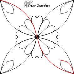 stylised flower motif step 1
