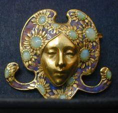 Lalique opal brooch