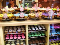 Cupcake display. I will own a store and also color coordinate as well.
