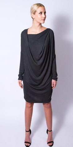light knit draped dress on TROVEA.COM