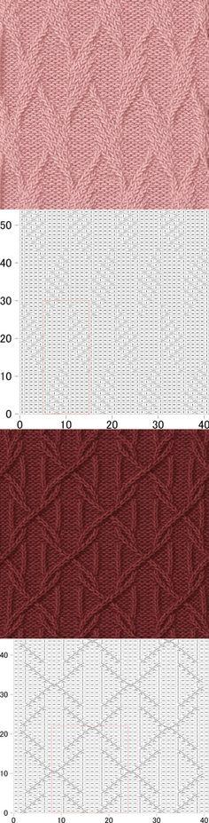 Узоры для вязания спицами со схемами. Подборка узоров для вязания спицами. | Домоводство для всей семьи.