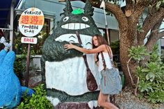 Do you recognize him ? Totoro is everywhere !even on the small island of Zamami ;-) #totoro #okinawa #zamami