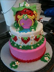 julie-Strawberry Short Cake,designed by Sam Lucero, Blue Cake, Little Rock AR