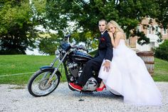 Badass couple on a motorcycle at Historic London Town and Gardens.  Gardens and motorcycles.  Nothing wrong with that.