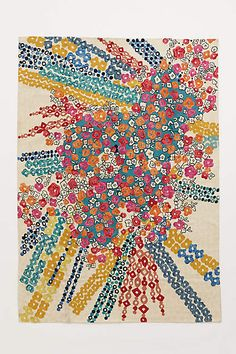 Confetti Flora Rug - anthropologie.com ~ would love in a light/bright office space