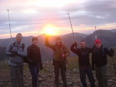 Scafell Pike at sunset  #3peaks looks a great view