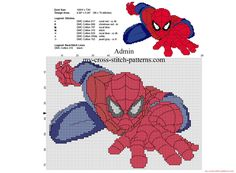 Cross stitch pattern Spiderman