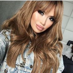 Sarahii with the good hair (weave) 💁🏼 Bare with me liquid matte Sensual blush Glided Honey highlight Pretty Hairstyles, Wig Hairstyles, Black Hairstyles, Honey Hair, Brown Blonde Hair, Hair Blog, Balayage Hair, Human Hair Wigs, Hair Trends