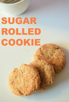 Sugar Rolled Cookie Recipe! EASY and DELICIOUS! Baking Recipes, Real Food Recipes, Cookie Recipes, Dessert Recipes, Dinner Recipes, Holiday Recipes, Christmas Recipes, Easy Desserts, Delicious Desserts