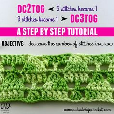 Crochet Stitch Guide Dc2tog : Oltre 1000 immagini su Crochet Stitches & Tutorials su Pinterest ...