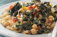 Chickpeas and Spinach Saute - What's Cooking? USDA Mixing Bowl #MyPlate