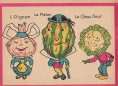 """Illustration from """"Les légumes en Goguettes"""", picture book from the 1930s."""