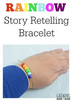 A fun way to build reading comprehension with these rainbow retelling bracelets. Includes a free printable.