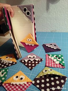 Marque-page Monster # Bookmark - Présentation des Plats Kids Crafts, Crafts To Sell, Diy And Crafts, Craft Projects, Sell Diy, Decor Crafts, Diy For Kids, Scrap Fabric Projects, Simple Crafts