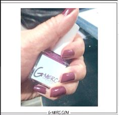 Customer in our Brick #Nail #Lacquer! This #swatch is also close to the #Pantone #Coloroftheyear ! Keep the #mani coming!☺️ #gmerc #gmercnails #notd #nails