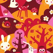 Little Forest fabric by bora.  Check out my baby gear made with this fabric at www.orangesaysfun.com
