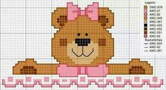 Bem vindo bebê Baby Cross Stitch Patterns, Cross Stitch For Kids, Cross Stitch Cards, Cross Stitch Baby, Cross Stitch Animals, Modern Cross Stitch, Cross Stitching, Cross Stitch Embroidery, Crochet Cross