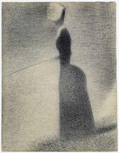A Woman Fishing Georges Seurat (French, Paris 1859–1891 Paris)