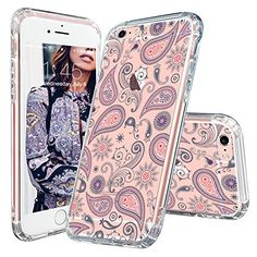 iPhone 6 Case, iPhone Case, MOSNOVO Paisley Floral Flower Clear Design Pattern Slim Transparent Plastic Hard with Soft TPU Bumper Protective Back Phone Case Cover for Apple iPhone 6 Inch) Cool Iphone 7 Cases, Iphone 7 Covers, Iphone Cases For Girls, Iphone 6 Plus Case, Phone Cover, Iphone 7 Design, Walpaper Black, Accessoires Iphone, Coque Iphone 6