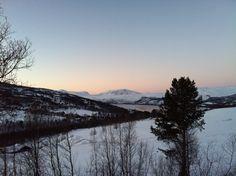 Vinter utsikt fra hytta