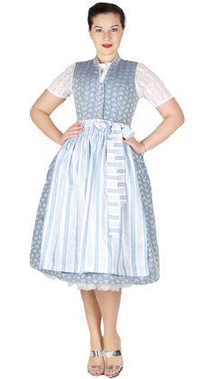 Tramontana Midi Dirndl 70er länge in eisbau zu jedem Fest oder zum Oktoberfest ein Hinkucker. Dresses For Work, Fashion, Dirndl Blouse, Dress Work, Oktoberfest, Handarbeit, Blue, Cotton, Moda