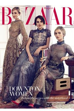 Downton Abbey girls Laura Carmichael, Michelle Dockery and Lily James wearing Valentino for Harper's Bazaar Michelle Dockery, Downton Abbey Cast, Downton Abbey Fashion, Lily James Downton Abbey, Downton Abbey Season 3, Paris Chic, Spring Outfit Women, Laura Carmichael, Look Retro