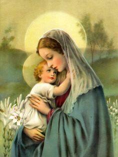 Beverly Toner (btoner1956) - Profile | Pinterest Religious Pictures, Religious Art, Jesus Pictures, Blessed Mother Mary, Blessed Virgin Mary, Jesus E Maria, Images Of Mary, Sainte Marie, Mary And Jesus