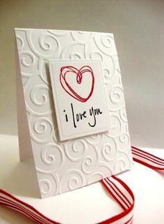 Simple card design. carte