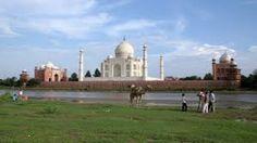 Taj Mahal View across river Yamuna