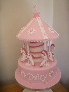 carousel cake By josiejoe on CakeCentral.com