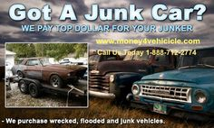 Sell your Junk Car in New Jersey, New York & Florida. Get the best price & free towing today! http://www.money4vehicle.com/