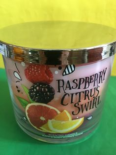 Bath+and+Body+Works+Raspberry+Citrus+Swirl+Triple+Layer+3+Wick+Candle+Large