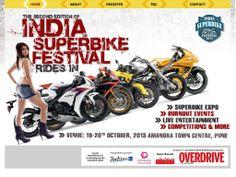 India Superbike Festival Micro website for Overdrive Magazine