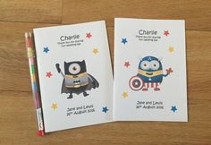 A6 MINIONS Superhero Inspired Personalised by DesignsbyDaisyandMax