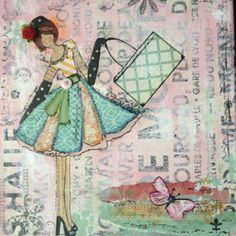 This is what I created after buying Julie Nutting's book.  By Ali Coates.Thanks Julie for sharing your techniques! #she art