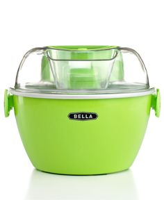 BELLA Ice Cream Maker - Cool it & then eat it! Your kitchen will never be the same! $29.99 at Macys!
