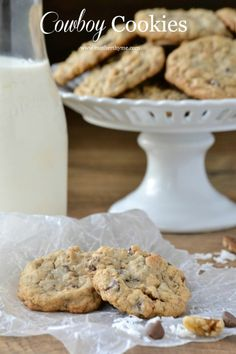 Cowboy Cookies - Just the name makes me want to pick up the ingredients in the morning.  I just may do it!