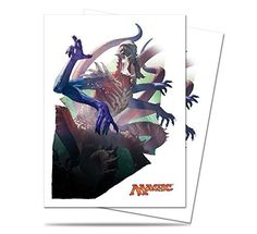 Collectible Trading Card Gameplay Accessories - Magic the Gathering  MTG Battle for Zendikar Ulamog Ceasless Hunger Card Sleeves 80 Count Deck Protectors -- Read more at the image link.