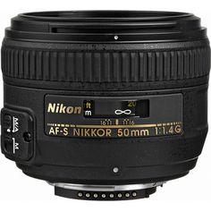 Nikon AF-S Nikkor 50mm f/1.4G Autofocus Lens.  I can't wait to take some portraits and get some sweet boken with this baby!