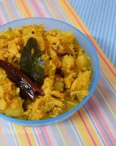 Chicken Thoran- stir fried chicken with potato and coconut..