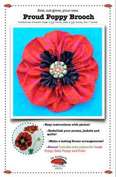 Proud Poppy Brooch Pattern cover