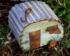 recycled houses  For the Birds {12 Unique DIY Birdhouses}