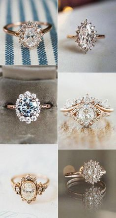 engagement ring Verlobungsring rose gold vintage diamond wedding engagement rings rings 20 Vintage Engagement Rings That Will Melt Your Heart - Oh Best Day Ever Engagement Ring Rose Gold, Engagement Ring Settings, Diamond Wedding Bands, Wedding Engagement, Halo Diamond, Pear Diamond, Emerald Diamond, Diamond Heart, Black Diamond