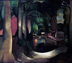 Bos rond t Oude Hof, Bergen Mathieu Wiegman 1920