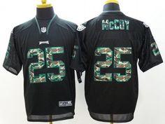 Nike Philadelphia Eagles #25 LeSean McCoy Black With Camo Elite Jersey