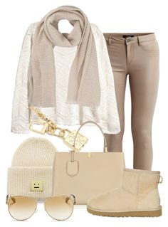 """-"" by erixx ❤ liked on Polyvore featuring VILA, Acne Studios, H&M, Tory Burch, Balenciaga, UGG Australia, French Connection and Michael Kors"