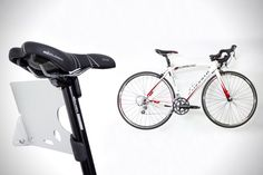 On the list of things that you need but don't want to spend a lot of time messing around with, the bicycle wall mount is pretty high up there. The Tern Per